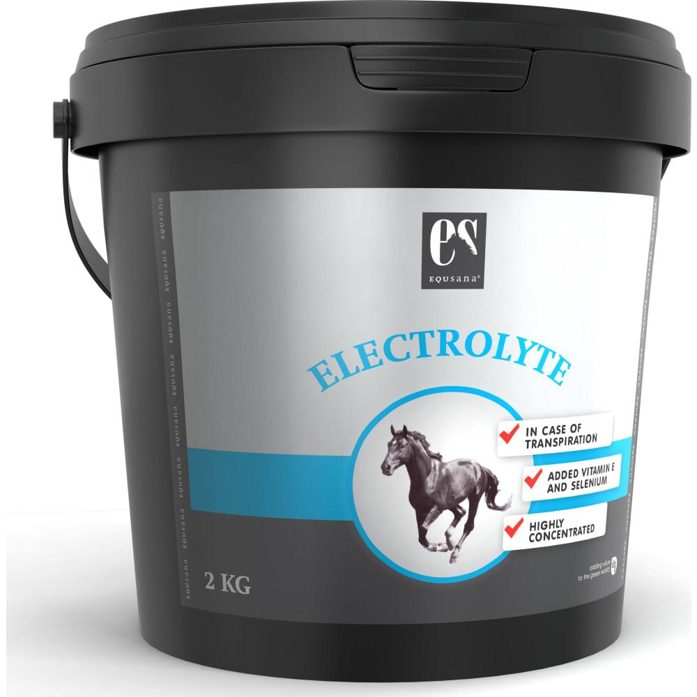 Equsana Electrolyte anvendes til kompensationfor elektrolyttabved svedafsondring.