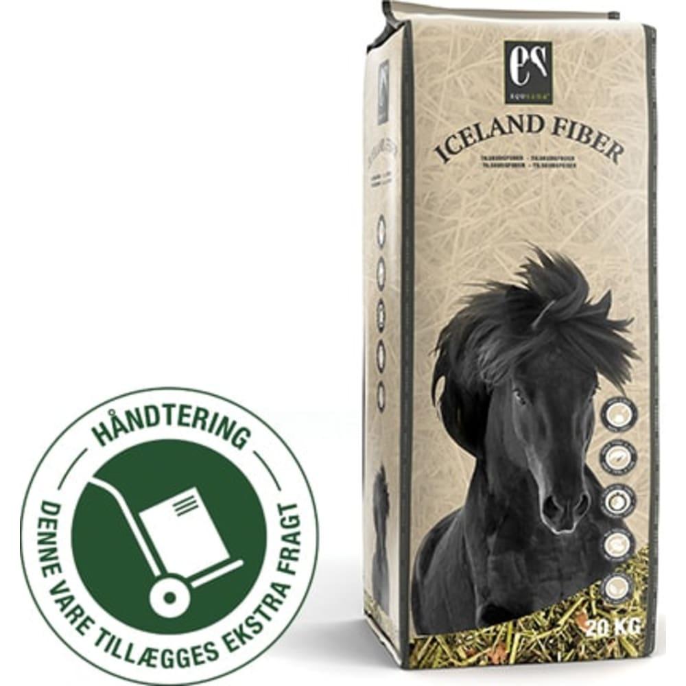 Equsana Iceland Fiber -Lucernebaseret tilskudsfoder specielt optimeret til den islandske hest og dækker behovet for vitaminer/mineraler ved kun 750 g/dag.