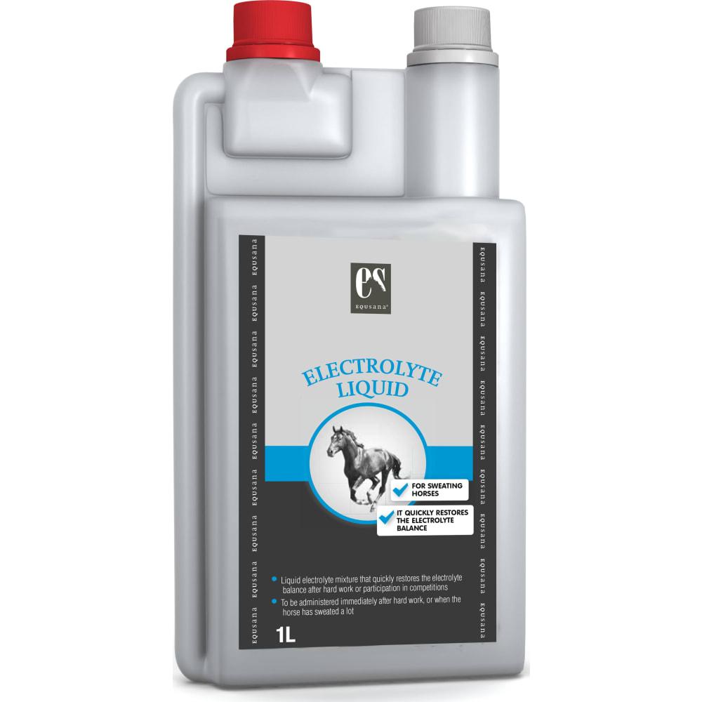 Electrolyte Liquid er et velsmagende flydende tilskud af elektrolytter til heste og ponyer, som sveder.
