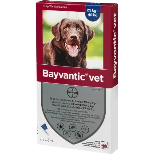 Bayvantic Vet Loppe- og Flåtmiddel til Hund 25-40 kg