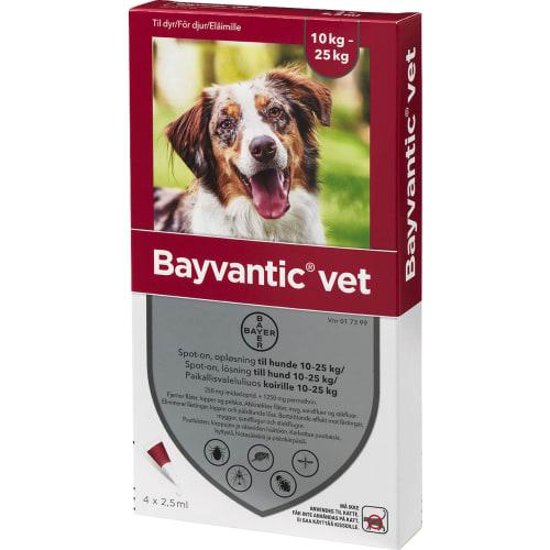 Bayvantic Vet Loppe- og Flåtmiddel Hund 10-25 kg