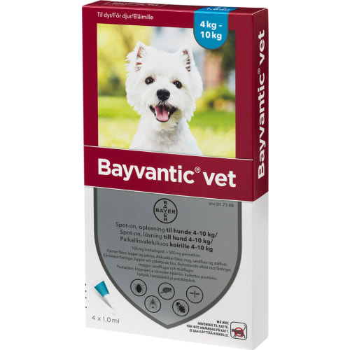 Bayvantic Vet Loppe- og Flåtmiddel til Hund 4-10 kg