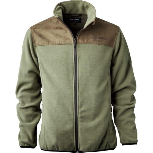 MikeH - Fleece grøn/brun - L