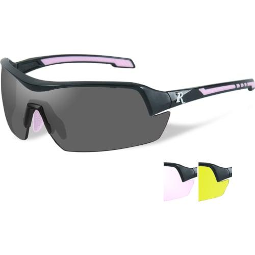 Skydebrille Remington Dame m. 3 linser, sort/rosa stel