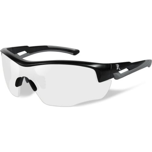 skydebrille UNG klar linse-sort/grå stel
