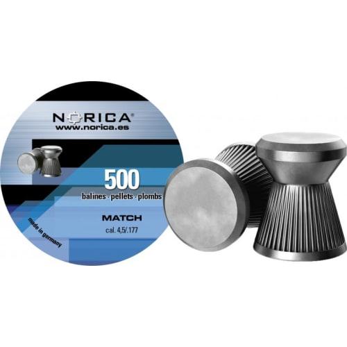 Norica Match hagl, 4.5 500 stk metaldåse