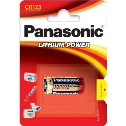 CR123 Lithium batteri 3v - panasonic