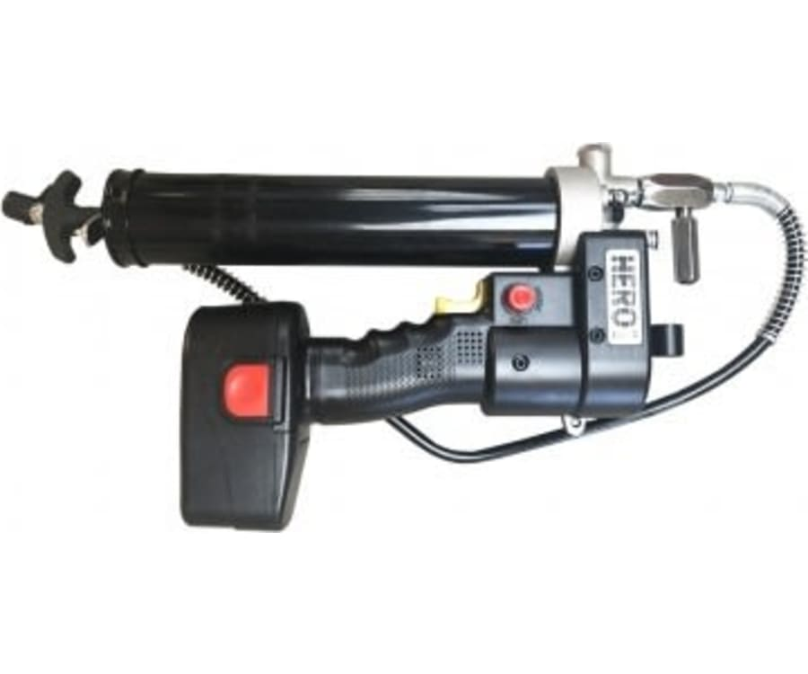 Akku Fedtsprøjte - Brugervenlig batteridreven fedtpresser.Kan pumpe 3 patroner pr. ladning